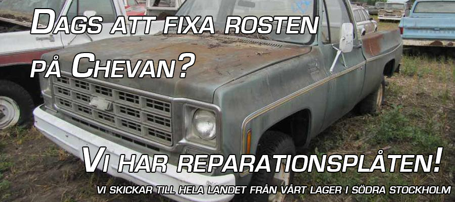 Reperationsplåt Chevrolet